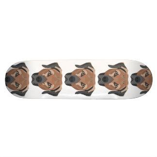 Tabla De Skate Perro Brown Labrador del ilustracion