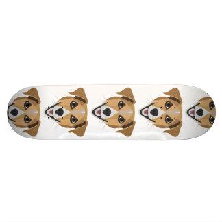 Tabla De Skate Perro Terrier sonriente del ilustracion