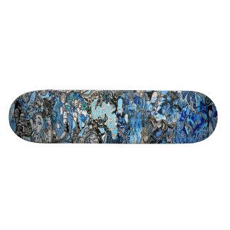 Tabla De Skate Sk8 su de los azules cubierta del arte de la