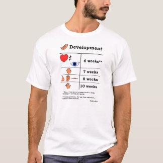 Tabla del desarrollo fetal (impresión negra) camiseta