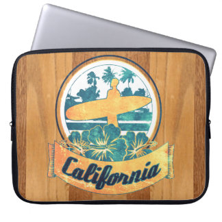 Tabla hawaiana de California Funda Para Ordenador