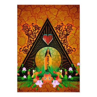Tabla hawaiana invitación 12,7 x 17,8 cm