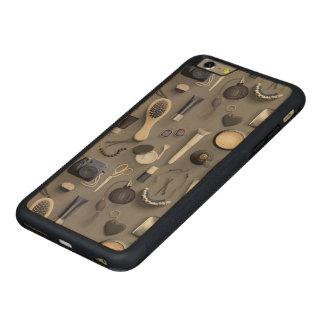 Tabla negra de la vanidad funda para iPhone 6 plus de carved® de nogal