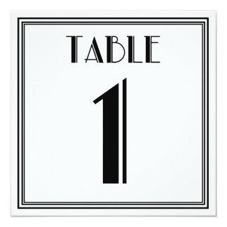 Tabla número 1 del art déco invitación 13,3 cm x 13,3cm