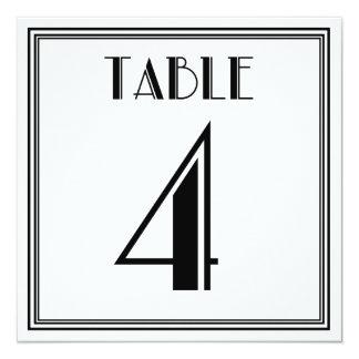 Tabla número 4 del art déco invitación 13,3 cm x 13,3cm