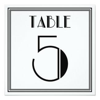 Tabla número 5 del art déco invitación 13,3 cm x 13,3cm