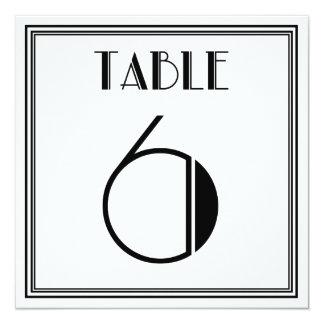 Tabla número 6 del art déco invitación 13,3 cm x 13,3cm