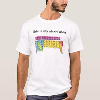 Tabla periódica de camisa de los elementos (examen