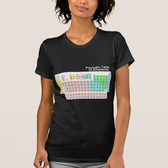 Tabla periódica de elementos - oscuridad camiseta