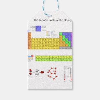 Tabla periódica de la ciencia de los elementos etiquetas para regalos