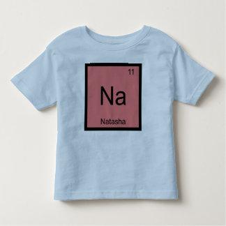 Tabla periódica del elemento conocido de la camiseta de bebé