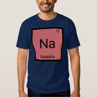 Tabla periódica del elemento conocido de la camisetas
