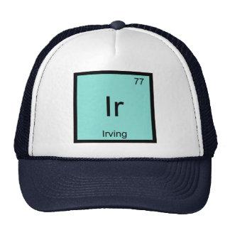 Tabla periódica del elemento conocido de la gorros bordados