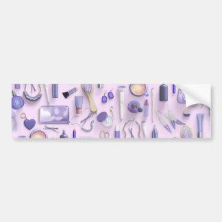 Tabla púrpura de la vanidad pegatina para coche