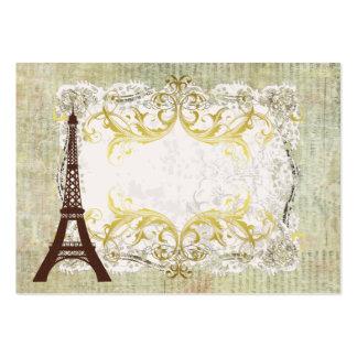 Tabla romántica del vintage de París Tarjetas De Visita Grandes