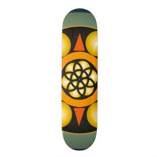Tabla skate con dibujos geométricos patín personalizado