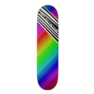 Tablas De Patinar Barras de color verticales del arco iris TV del