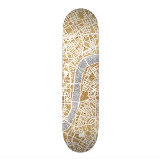 Tablas De Patinar Mapa dorado de la ciudad de Londres