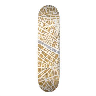 Tablas De Skate Mapa dorado de la ciudad de París