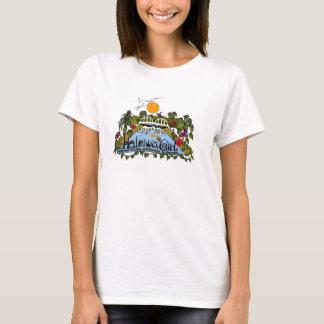 Tablas hawaianas de encargo hawaianas del chica de camiseta