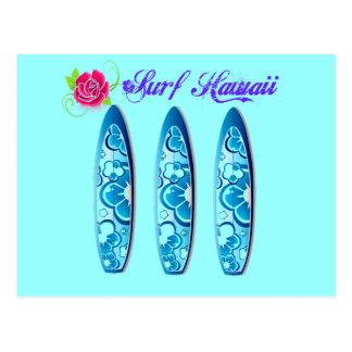 Tablas hawaianas de Hawaii de la resaca Postal