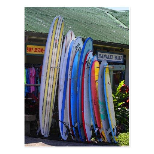 Tablas hawaianas para el alquiler en Hanalei, Kaua Postal