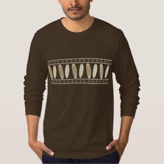 Tablas hawaianas y fronteras tropicales camiseta