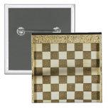 Tablero de ajedrez chapa cuadrada