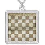 Tablero de ajedrez colgante cuadrado