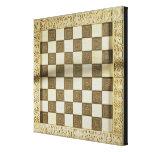 Tablero de ajedrez lona envuelta para galerias
