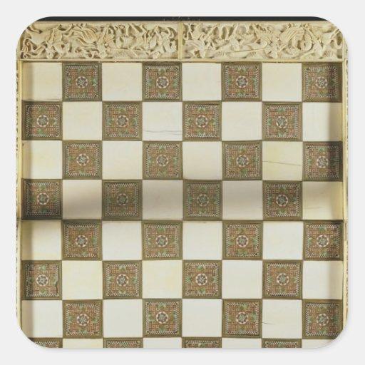 Tablero de ajedrez calcomanía cuadradas personalizada