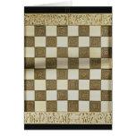 Tablero de ajedrez tarjetón