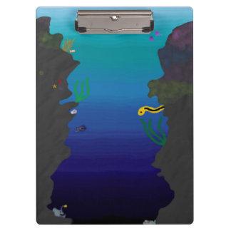 Tablero de clip subacuático