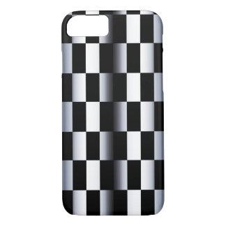 Tablero de damas abstracto funda iPhone 7