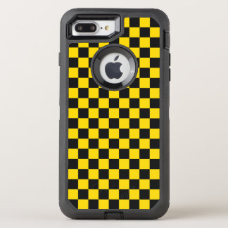Tablero de damas amarillo funda OtterBox defender para iPhone 8 plus/7 plus