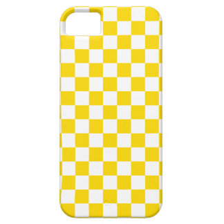Tablero de damas amarillo funda para iPhone SE/5/5s