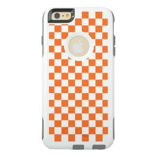 Tablero de damas anaranjado funda otterbox para iPhone 6/6s plus
