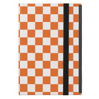 Tablero de damas anaranjado iPad mini protectores