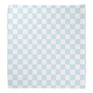 Tablero de damas azul y blanco en colores pastel bandanas