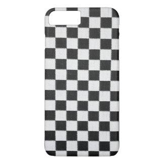 Tablero de damas blanco y negro funda iPhone 7 plus