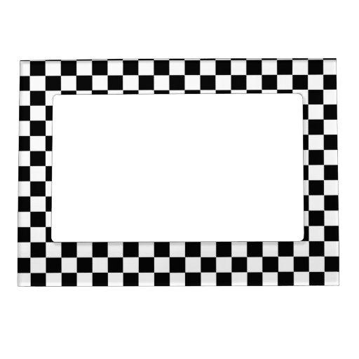 Tablero de damas clásico blanco y negro marcos magneticos para fotos