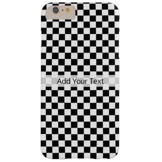 Tablero de damas clásico blanco y negro por funda barely there iPhone 6 plus