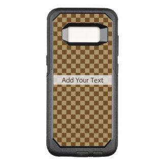 Tablero de damas clásico de Brown de Shirley Funda Otterbox Commuter Para Samsung Galaxy S8