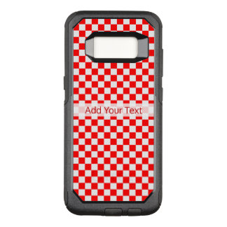 Tablero de damas clásico rojo y blanco por STaylor Funda Commuter De OtterBox Para Samsung Galaxy S8