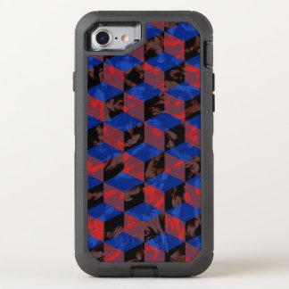 Tablero de damas del negro azul funda OtterBox defender para iPhone 7