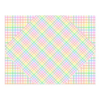 Tablero de damas en colores pastel postales
