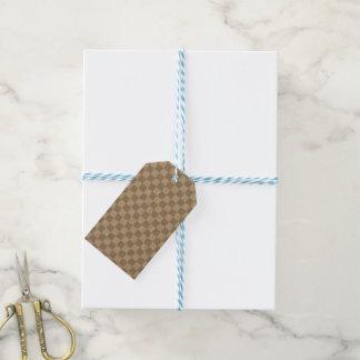 Tablero de damas gris claro etiquetas para regalos