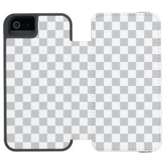 Tablero de damas gris claro funda cartera para iPhone 5 watson