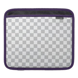 Tablero de damas gris claro funda para iPad