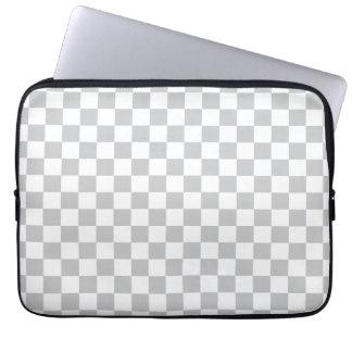 Tablero de damas gris claro funda para ordenador